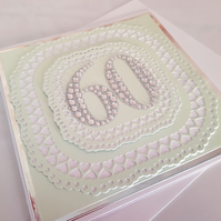Happy 60th birthday - handmade greeting card