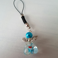 Angel bag charm, keyring, Christmas decoration......- Turquoise