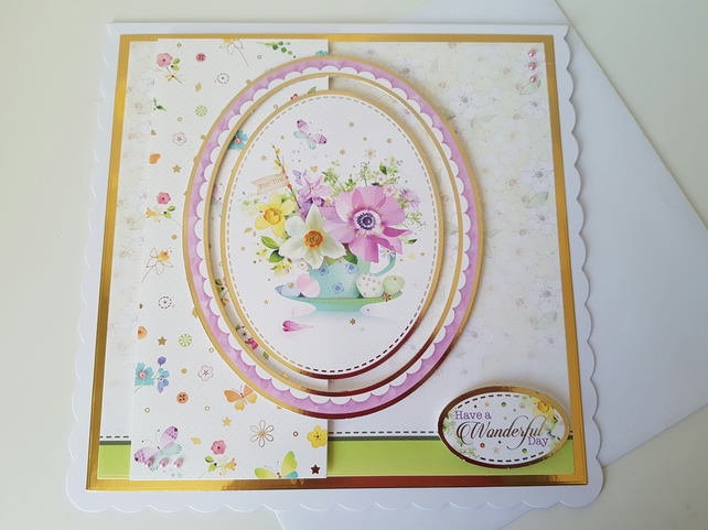 Have a wonderful day - Handmade card