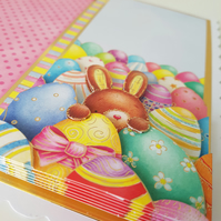 REDUCED - Have an EGGS-TRA special Easter - Handmade greeting card