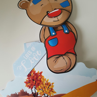 REDUCED - Bear rocker card