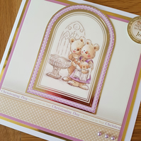 May each day be filled with joy - Handmade christening card