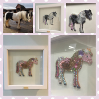 Personalised horse silhouette full of sparkle