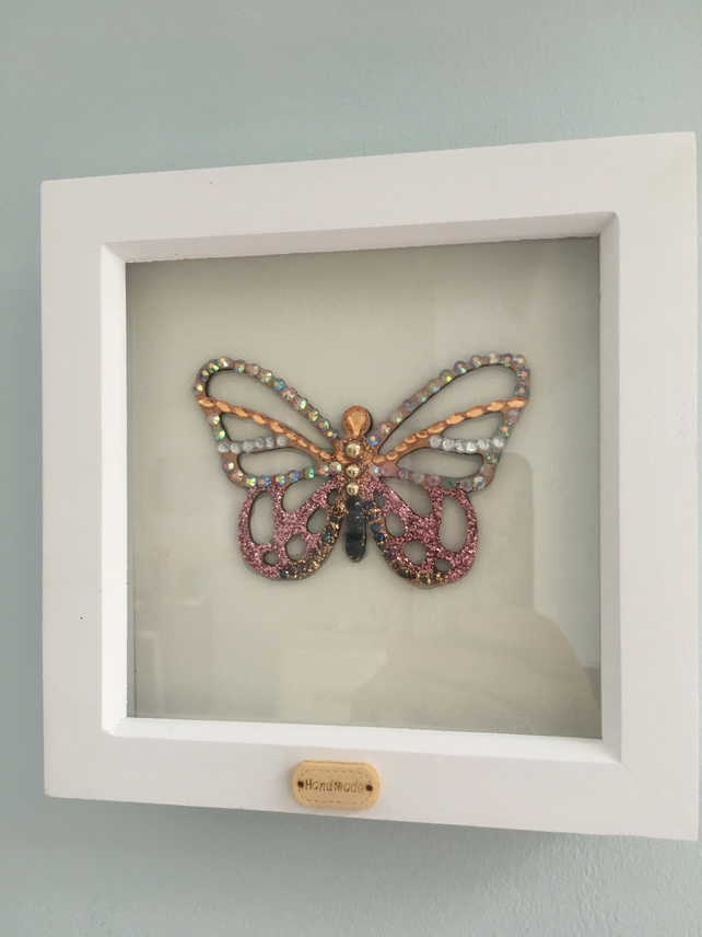 Sparkly butterfly 3D picture