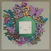 Butterfly garden light Switch Surround