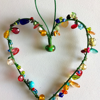 Wire Heart Hanger