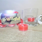 Christmas spice scented tea light candles