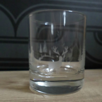 Scottish landscape tea light holder or whisky glass