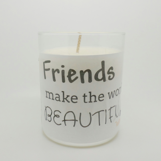Friendship gift scented soy wax candle LJC6