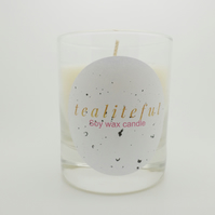 Scented soy wax candle in glass jar SW3