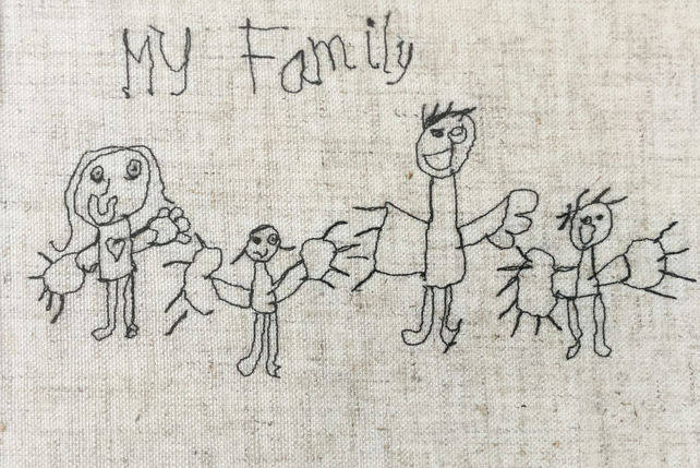 Embroidered Children's Drawing