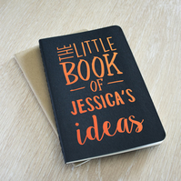 Personalised Notebook Moleskine A6 - The little book of ideas, pocket notepad