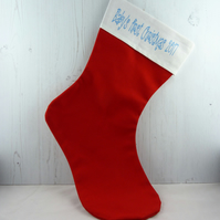 Baby's First Christmas Personalised Christmas stocking