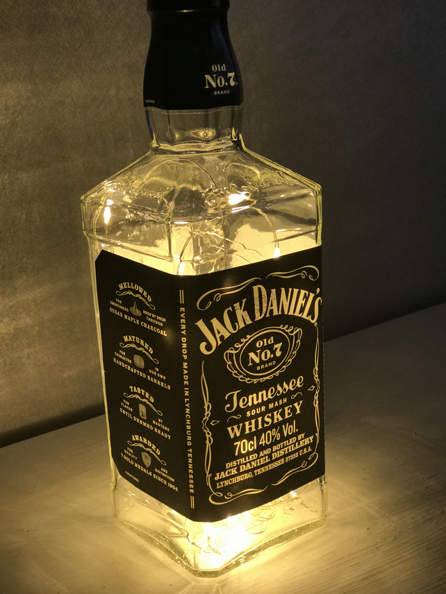 Jack Daniels MICRO LED upcycled Lamp (Free Uk P&P)