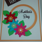 "Beautiful Handmade Mother's Day Card Happy Mothers Day Flowers 5""x7"""