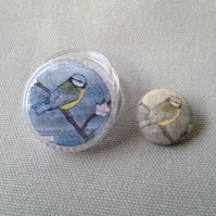 Button in a pot: Spring Blue Tit