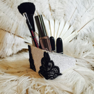 Black lace burlesque makeup holder