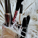 Feather boa makeup holder