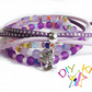 "Purple Arm Candy Bracelet Kit, Set of 4 DIY stacking bracelets -""Kitty"""