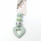 Duck Egg Blue Ceramic Bead Set with Heart Pendant