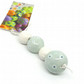 Set of 4 Handmade Duck Egg Blue and white ceramic beads