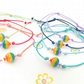 Pack of 5 Rainbow Friendship Bracelets in assorted colours