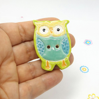 Extra Large OWL Ceramic Button