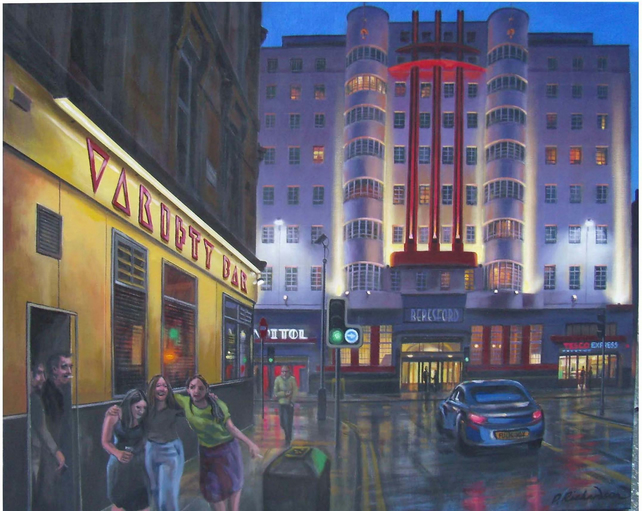 Variety Bar and Beresford, Glasgow. Art Print.