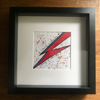 Contemporary abstract David Bowie  watercolour