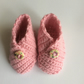 Cute Pair of Pink Baby's Booties.