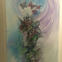 Butterfly Kisses 2ft x 3ft canvas