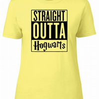 Straight Outta Hogwarts, Womens Fitted Tee T-Shirt