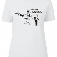 Fear The Living Womens Fitted Tee T-Shirt