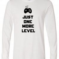 Just One More Level Mens Long Sleeve Tee