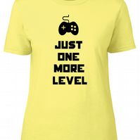 Just One More Level Womens Fitted Tee T-Shirt