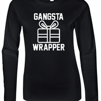 Gangster Wrapper Womens Fitted Long Sleeve Tee