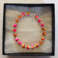 Pink and yellow bracelet