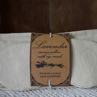 Set of 2 lavender aroma pillow with sleep mask