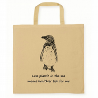 Penguin Cotton Tote Shopping Bag