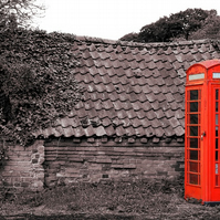 Old Phonebox Old Building A4 Colour Photo Print