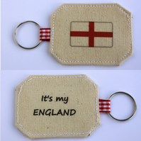"""It's my ENGLAND"" Cotton Keyring"