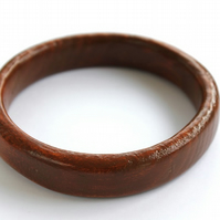 Handmade Wooden Bangle (Dark Finish)