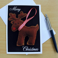 Little Reindeer Pack of 4 Christmas Cards or Notelets