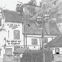 The Old Inn A4 Digital Art Print