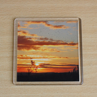 Summer Sunset (Single Drinks Coaster)