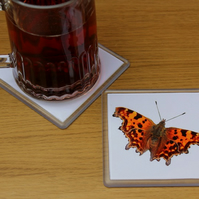 Comma Butterfly, Single Drinks Coaster, Drinks Mat
