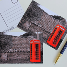 Old Red Phonebox by the Old Building Postcards Set of 3
