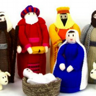 Hand Knitted Nativity Set