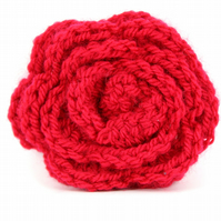 Hand Knitted Red Brooch, Stocking Filler, Christmas, Ideal Christmas