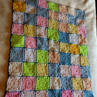 Handmade crochet granny blanket for baby